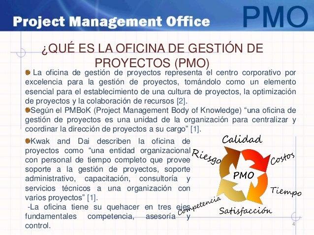 pmo oficina de gestion de proyectos
