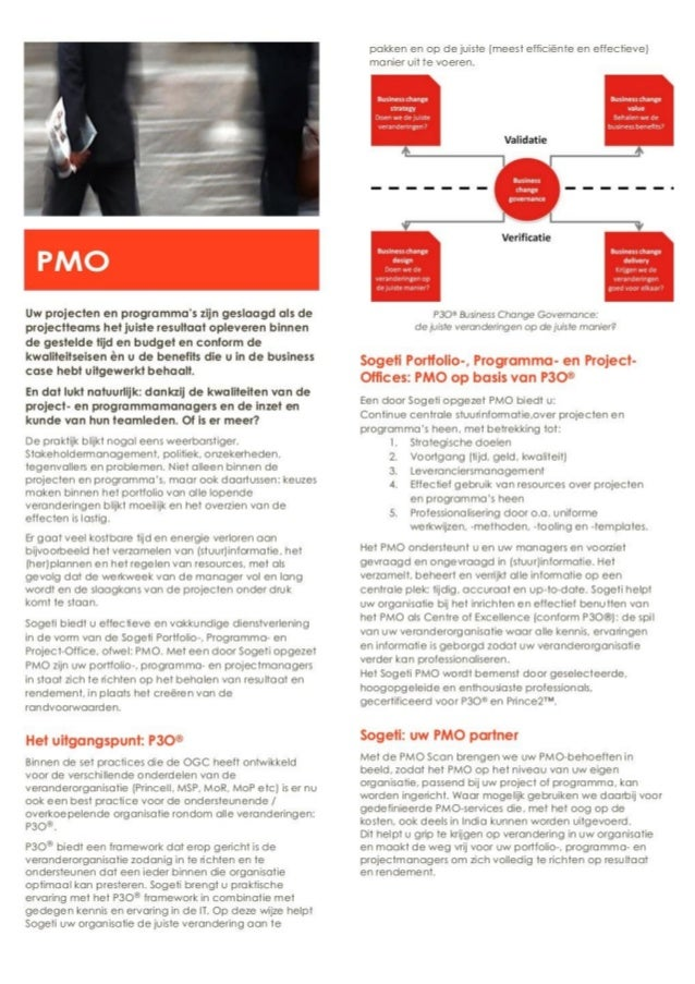 Pmo   project managment office - project management officer - sogeti - flyer