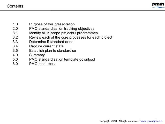 PMO standardisation - simple tracking process Slide 2