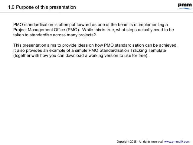PMO standardisation - simple tracking process Slide 3