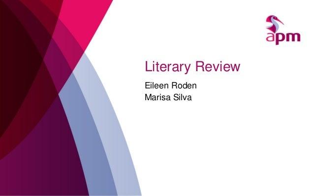 Literary Review Eileen Roden Marisa Silva