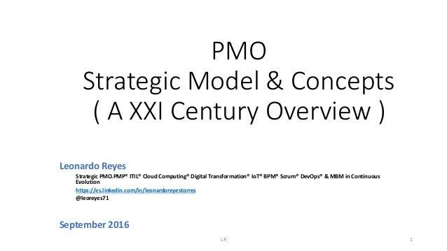 PMO Strategic Model & Concepts ( A XXI Century Overview ) Leonardo Reyes Strategic PMO.PMP® ITIL® Cloud Computing® Digital...