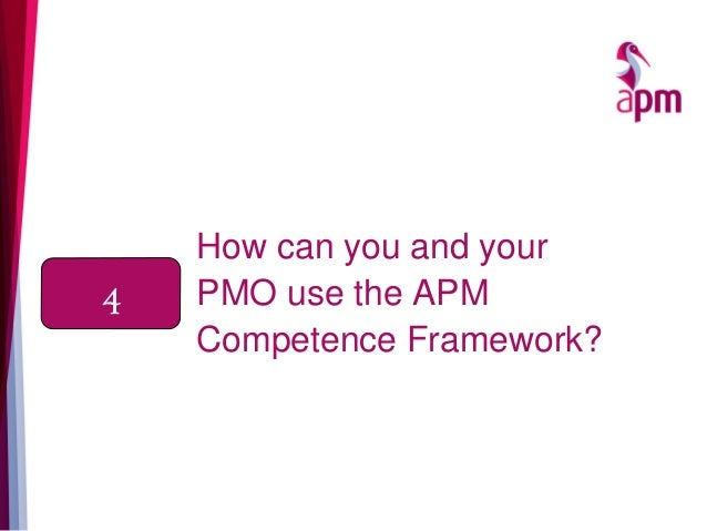 How can you and your PMO use the APM Competence Framework? 4