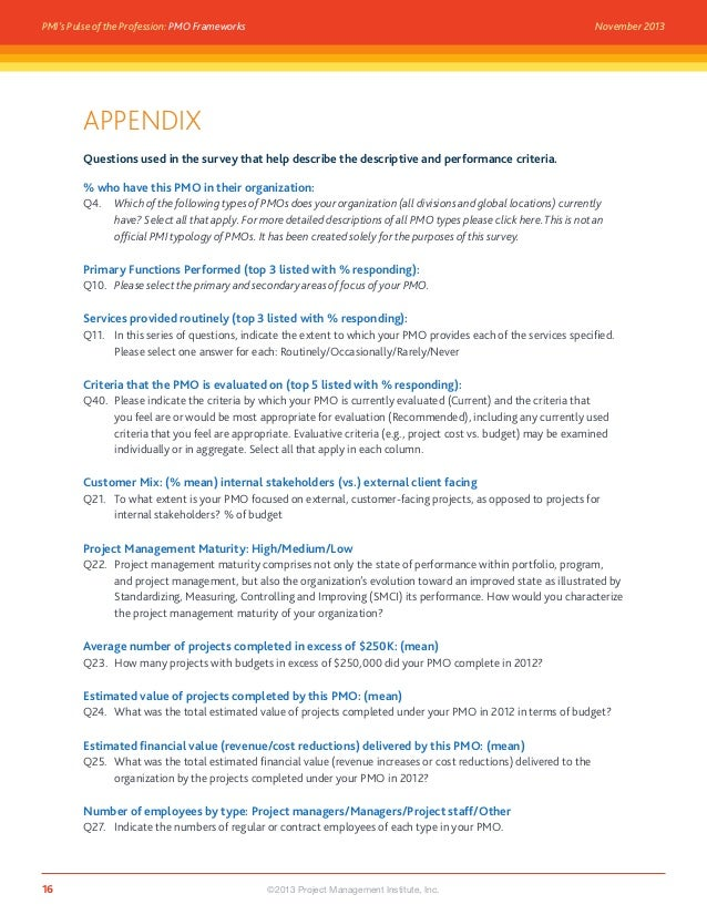 PMO Frameworks