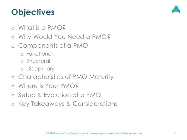 Setting up a Project Management Office (PMO) Slide 2