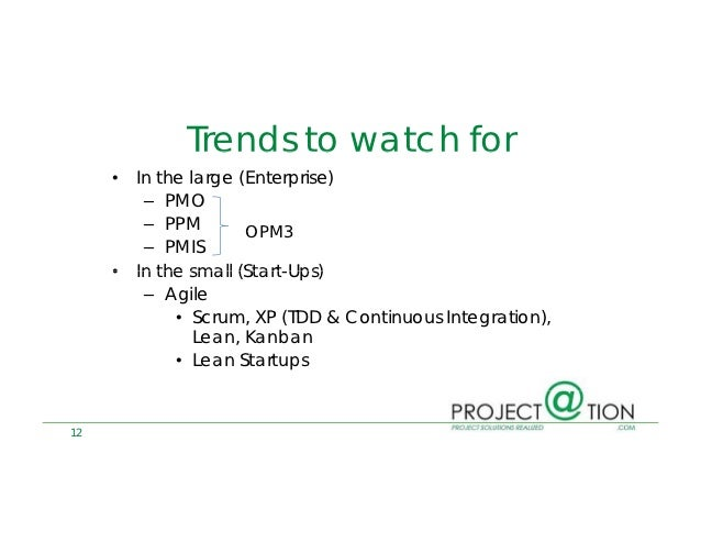 Pmp Certification Trends May 2012