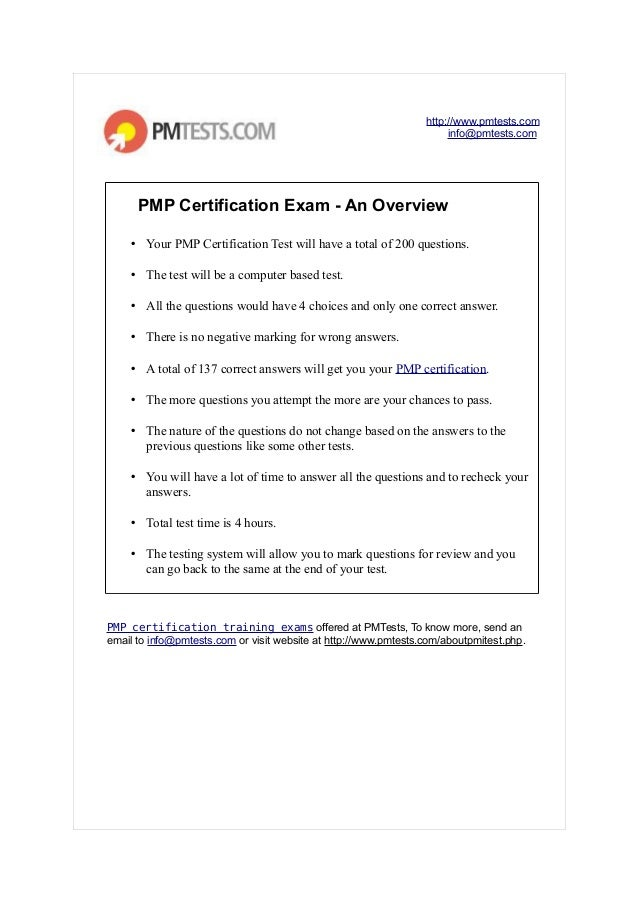 Pmp Certification Exam An Overview Project Management Certificati
