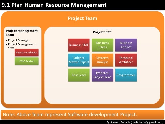 project human resource management Description and definition of the pmi-process 'human resource planning' description and definition of the pmi-process 'human resource planning' skip member of knowledge area project human resource management the subject human resource management operates on the base of other human resources.
