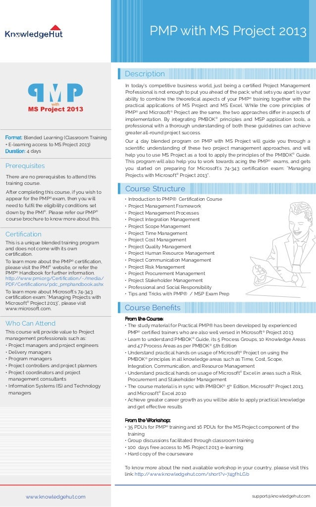 Pmp With Ms Project 2013