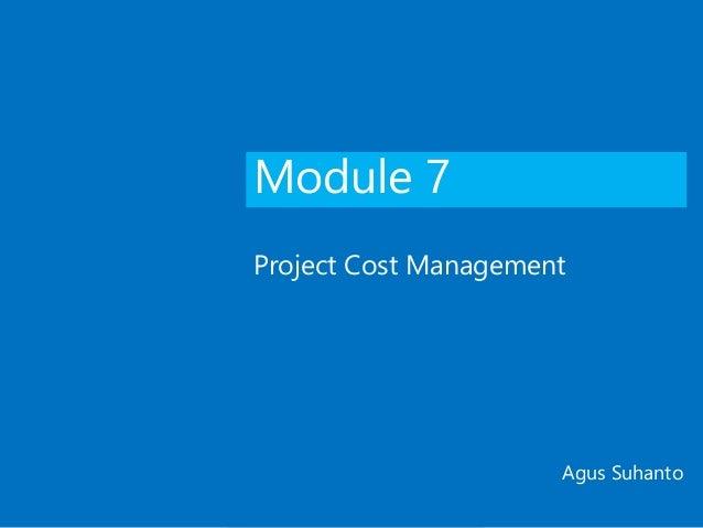 Project Cost Management - PMBOK6