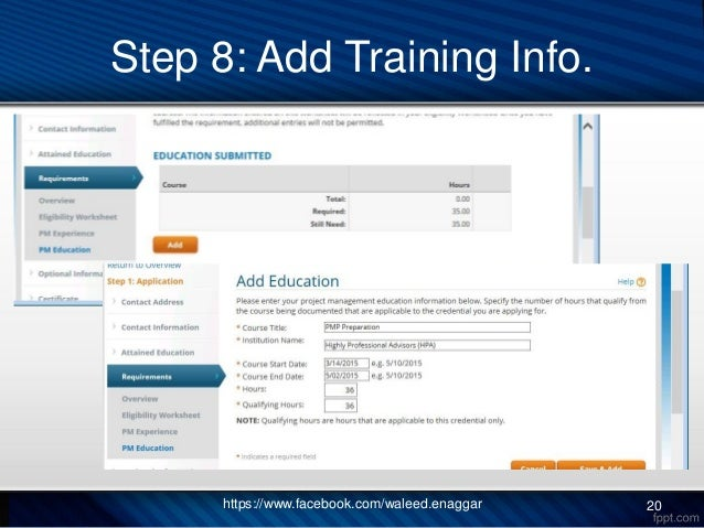 PMP Application - Step by Step