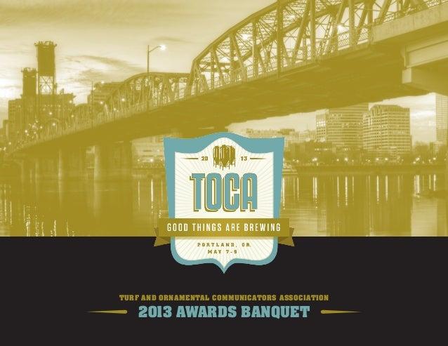 Turf and Ornamental Communicators Association2013 Awards Banquet