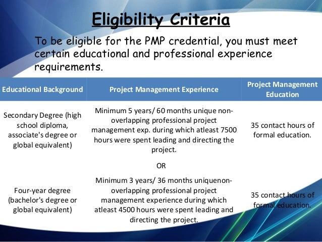 PMP certification details