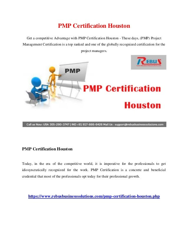 Pmp Certification Houston