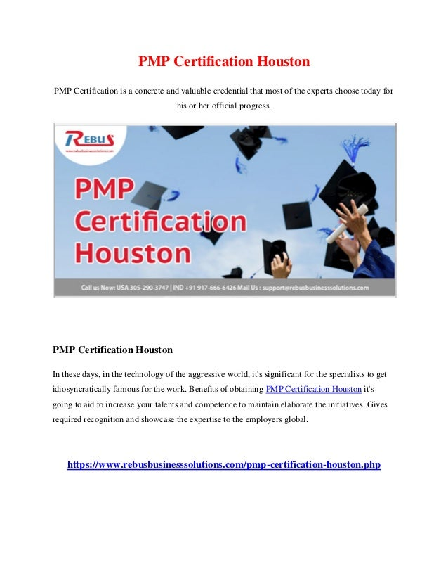 Pmp Certification Houston