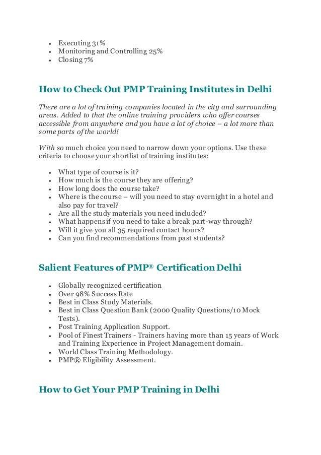 Pmp Certification Training In Delhi Pmp Certification Course Trainin