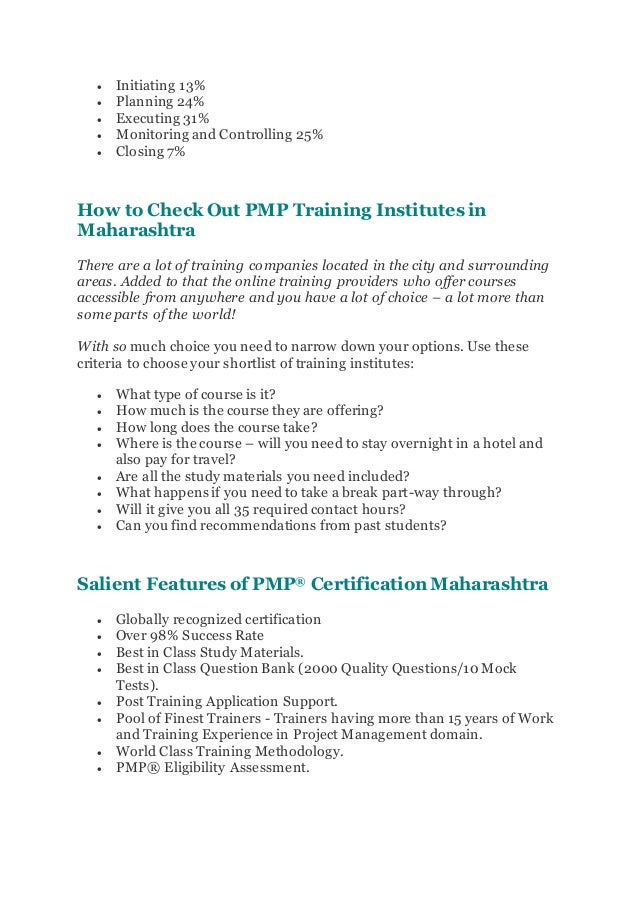 Pmp Certification In Maharashtra Pmp Training Course In Maharashtra