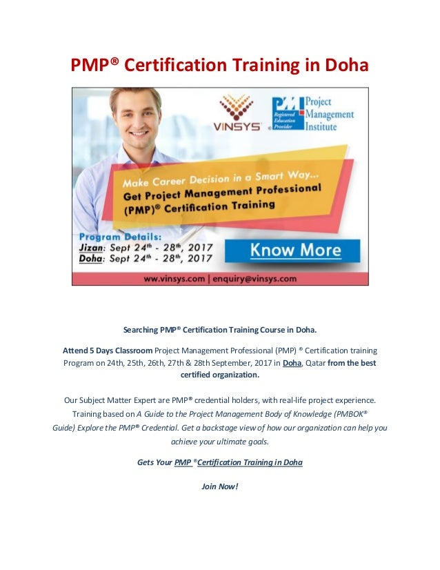Pmp Certification Training In Doha