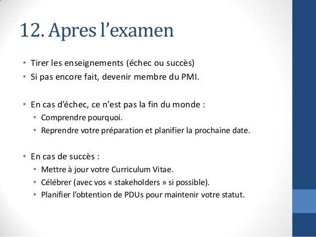 080973a1d8d Certification PMP - Retour d Expérience en 12 points (Lessons Learned…