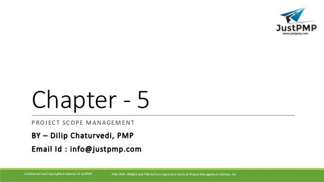 Project Scope Management Pmp Chapter 5 Pmbok Pmp Exam Manual Guide