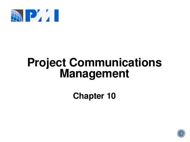 Pmp communication chapter 10