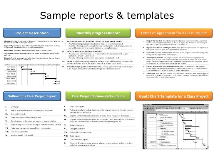 Organizational Process Assets Updates Inputs Tools And Techniques Outputs;  32. Sample Reports U0026 Templates Project Description Monthly ...