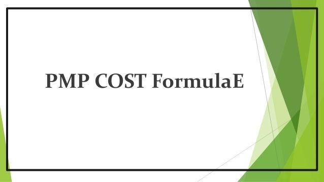 PMP COST FormulaE