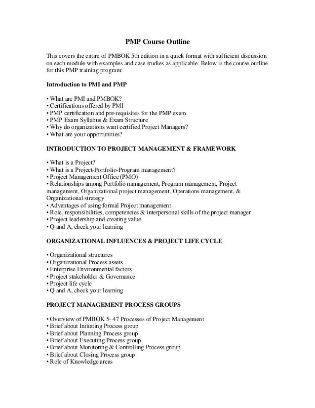 Course Outline Template