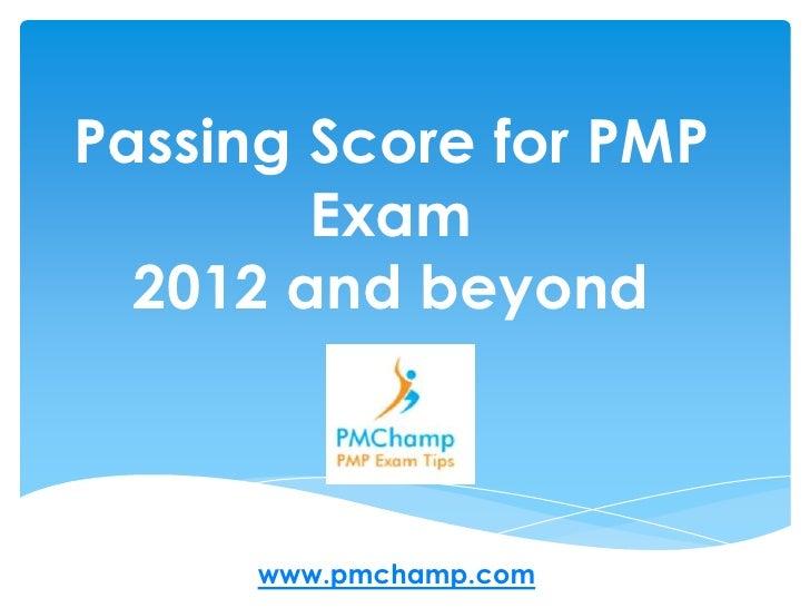 Pmp Exam Passing Percentage 2012