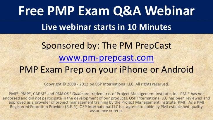 Pmp free exam