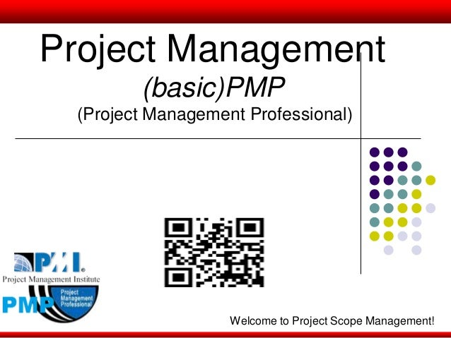Project Management (basic)PMP (Project Management Professional) Welcome to Project Scope Management!