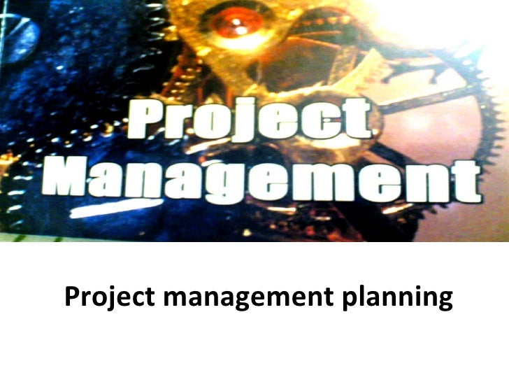 Project management planning