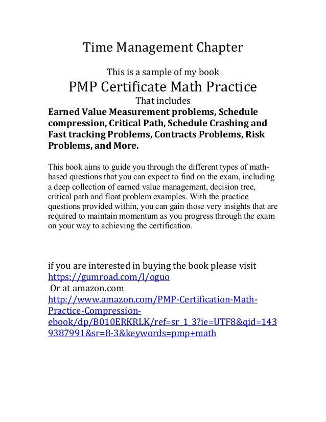 Pmp certificate math practice sample time management yadclub Gallery