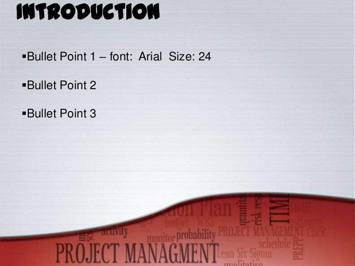 project management powerpoint template