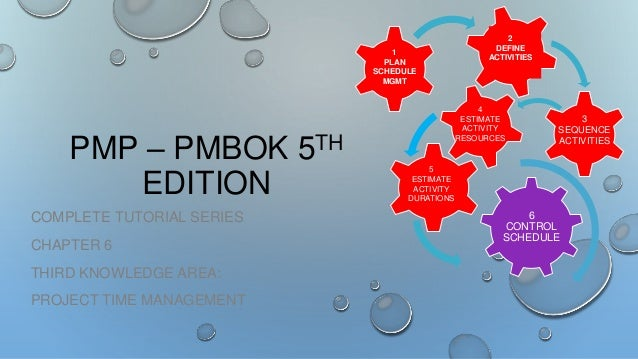 1 PLAN SCHEDULE MGMT  PMP – PMBOK 5TH EDITION COMPLETE TUTORIAL SERIES CHAPTER 6 THIRD KNOWLEDGE AREA: PROJECT TIME MANAGE...