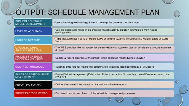 Pmbok Th Edition  Chapter  Project Time Management Summary