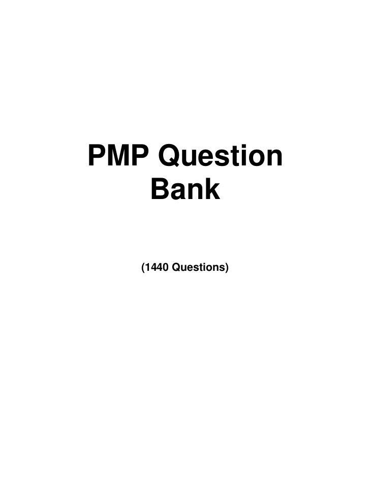 PMP Question Bank