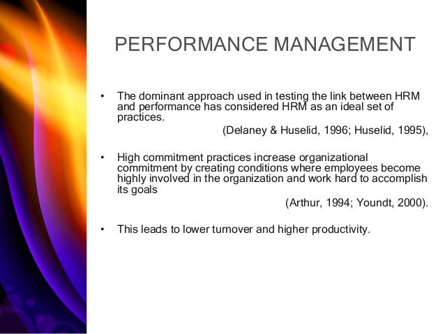 the role of performance management in 2013-1-25 performance management in the botswana public service  performance management is a reform initiative introduced by  its role.