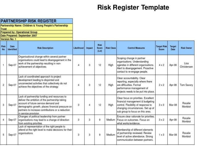 hazard risk register template - pmp risk chapter 11