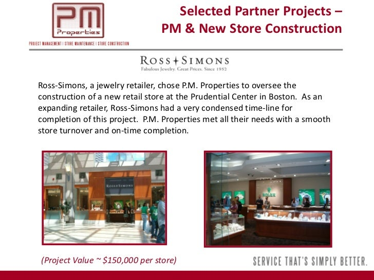 P m properties 2011 corporate overview for Ross simons jewelry store