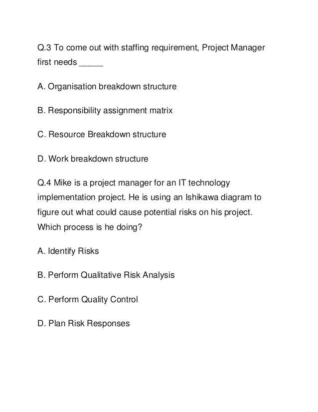 PMP Sample Questions PDF