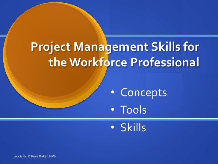 Project Management Skills for the Workplace Professional seminar 020…