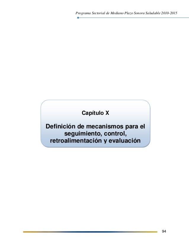 PMP Sonora Saludable 2010   2015