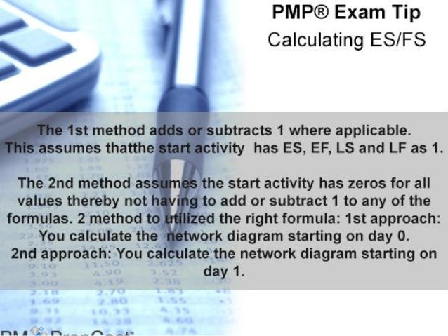 PMP Tip: Calculating ES-FS