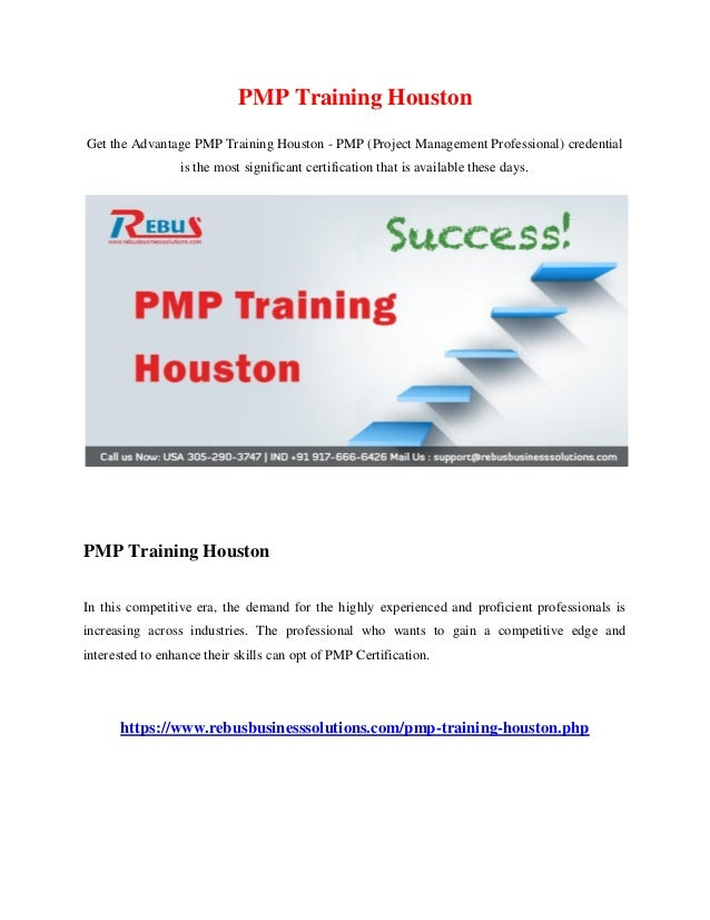 Pmp Training Houston