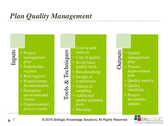 Pmp Training Project Quality Management Part 1