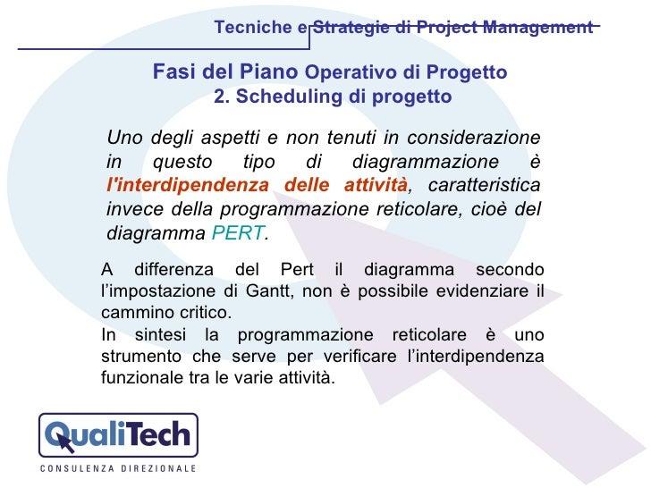 Tecniche e Strategie di Project Management Uno degli aspetti e non tenuti in considerazione in questo tipo di diagrammazio...