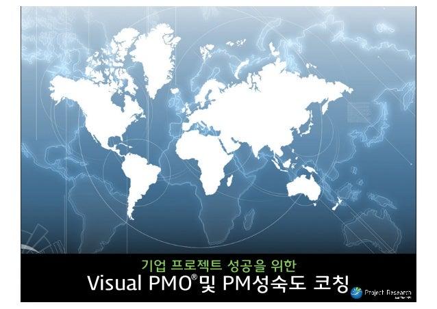 기업 프로젝트 성공을 위한 Ⓡ  Visual PMO 및 PM성숙도 코칭