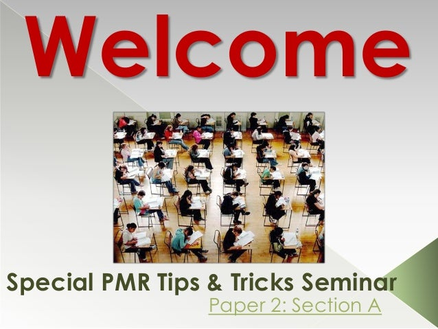 pmr examination tips Annual newsletter also contains tips for preparing for a pmr i encourage  upfront preparation, the in- the pmr it also gave me a processing went smoothly it.