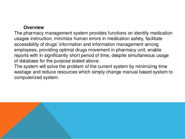 problems with manual pharmacy system Easy to use pharmacy software system that controls all pharmacy management process - billing, purchasing, inventory management learn more about medicoinfra you have selected the maximum of 4 products to compare add to compare.